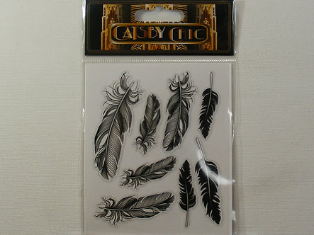 Craftime - Gatsby Chick Feather Stickers.