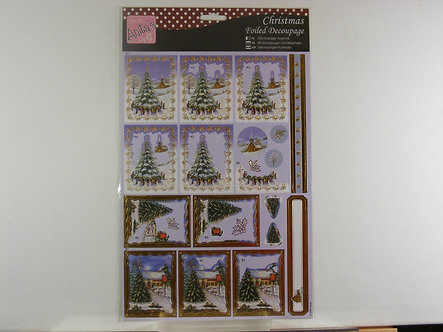 Anita's - Christmas Foiled Decoupage - Christmas Village.