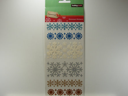 Hobbycraft - Shimmer Snowflake Stickers