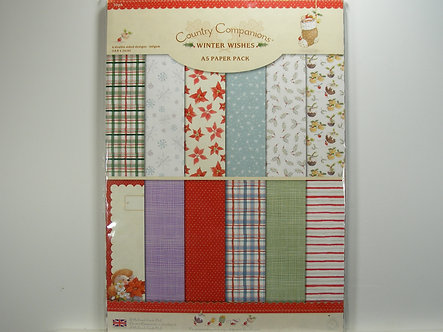 Docrafts - Country Companion Winter Wishes A5 Pack