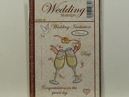 Crafts UK - Cheers Rubber Stamp