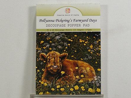Pollyanna Pickering's Farmyard Days A6 Decoupage Popper Pad.