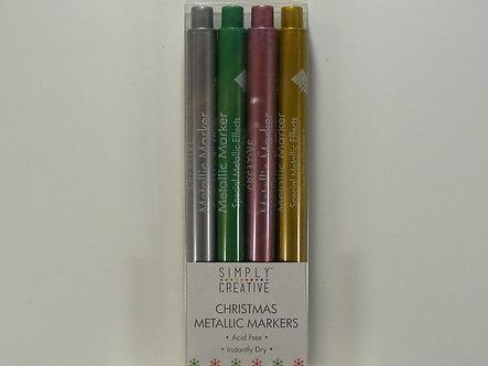 Simply Creative - Christmas Basics Metallic Markers