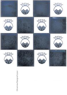 Christmas Designa Topper - Silver Metallic Foiled Christmas Puddings Sheet
