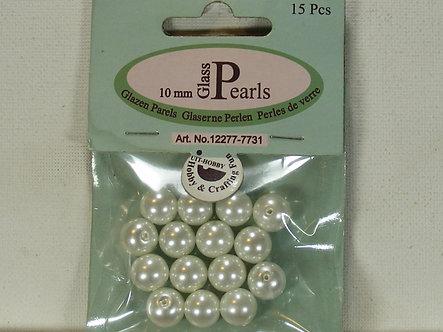 UIT-Hobby - 10mm Glass Pearls (White)