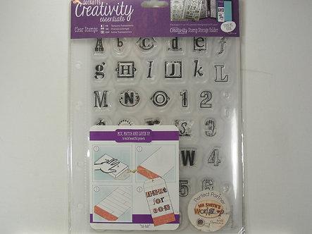 Docrafts - Creativity Essential A5 Clear Acrylic Stamp Set - Alphabet