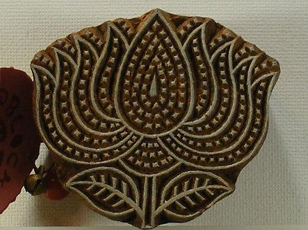 Block Wallah - Large Indian Lotus Flower Stamp