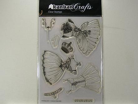 Kanban - Vivienne Clear Acrylic Stamp Set.