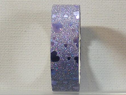 Craft Washi Tape - Purple Hearts Design.