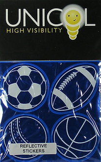 Unicol Hi Vis Stickers - Sports Balls Blue