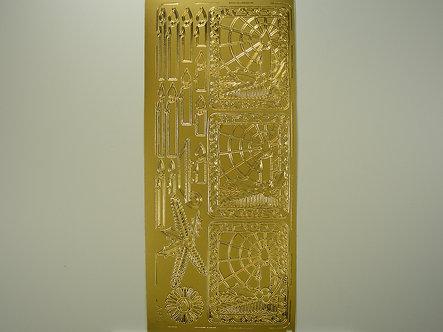 AP Crafts - Christmas Peel Offs (Gold)