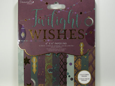 """Dovecraft - Twilight Wishes 6"""" x 6"""" Paper Pad"""