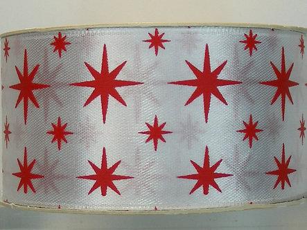 North Pole - Satin Ribbon 3mts (Stars)