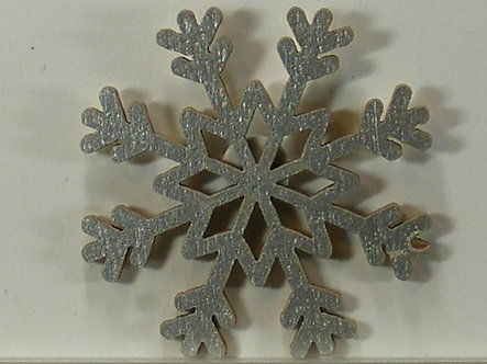 Hobbycraft - Silver Wooden Snowflake Toppers