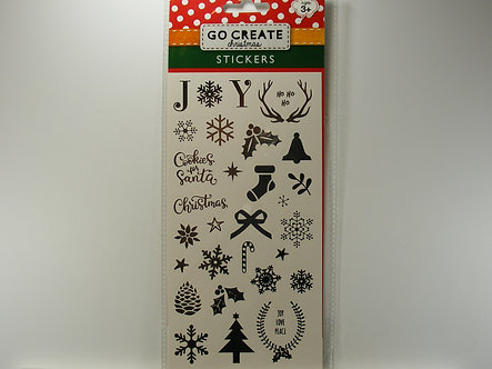 Go Create - Christmas Stickers (Silver)