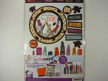 Hunkydory Special Days - Time For New Stationary Topper Set
