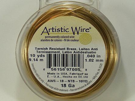 Beadalon - Artistic Wire - 18 Gauge Tranish Resistant Brass