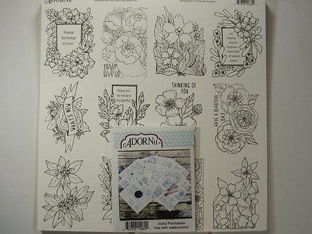 """Adorn-It - Joyful Watercolor 12"""" x 12"""" Combo Pack"""