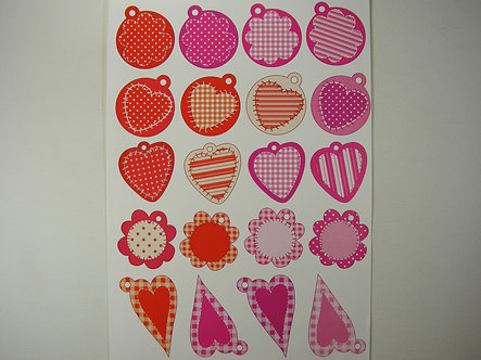 Patterned Paper Tags Topper Sheet