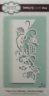Creative Expressions - Paper Cuts Collection - Sea Horse Edger