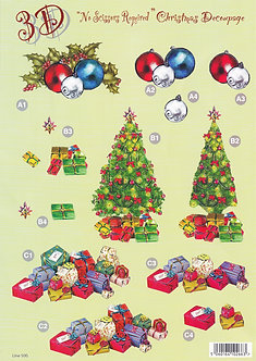 Craft UK - A4 Christmas Decoupage Sheet