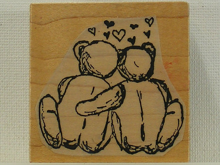 Superstamp - Love Bears Wood Mounted Rubber Stamp