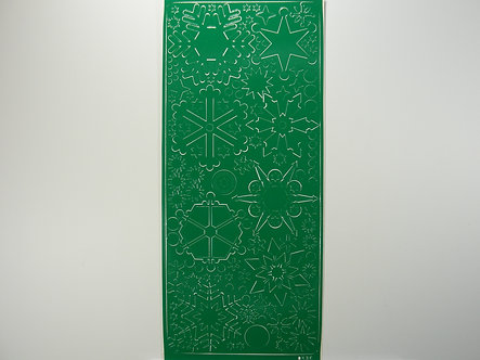 Christmas Peel Offs - Snowflakes & Stars (Green)