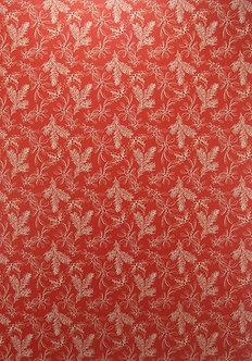 Kanban - Holly Pattern Red Background Card