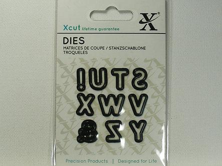 Xcut - Mini Die Alphabet Pt. 3