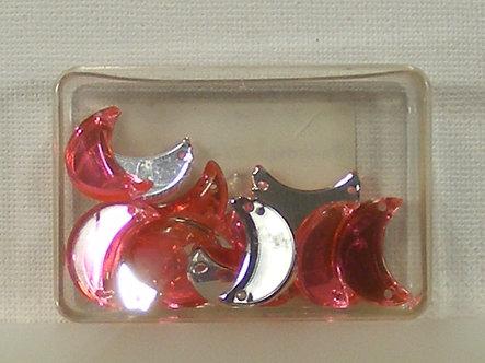 Trimits - Essentials Pink Half Moon Beads