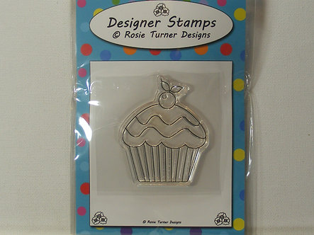 Rosie Turner Designs - Cherry Cupcake Clear Acrylic Stamp
