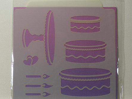 Kanban - Cake & Stand Stencil