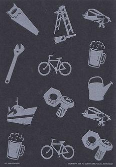 Art & Crafts Direct - Mini-Mens A5 Bkg Card (Black)
