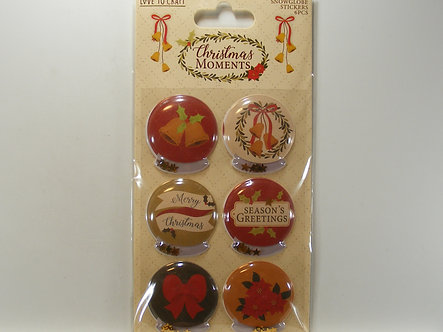 Love To Craft - Christmas Moments Snowglobe Stickers
