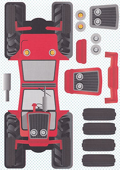 Kanban - Kan-Cars Card Kit - Red Tractor.