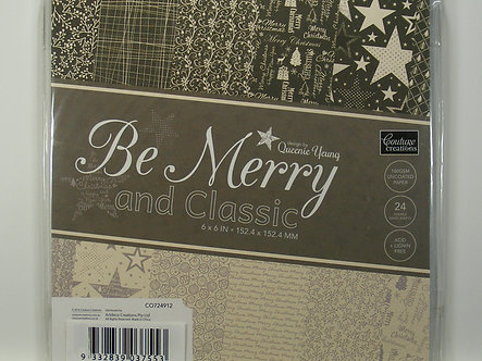 """Couture Creations - Be Merry And Classic 6"""" x 6"""" Paper Pad"""