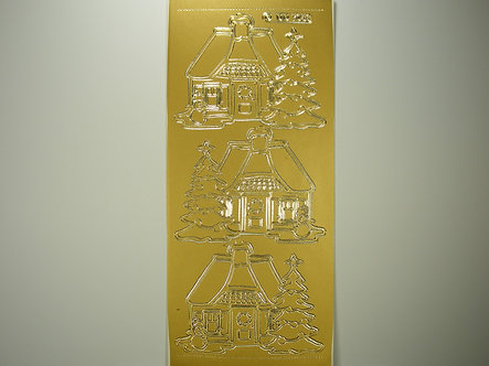 DD - Christmas House Peel Offs (Gold)