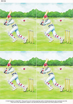 Craft Creations - Cricket Topper Sheet