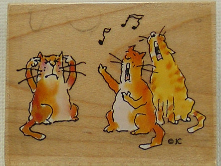All Night Media - Caterwauling Wood Mounted Rubber Stamp