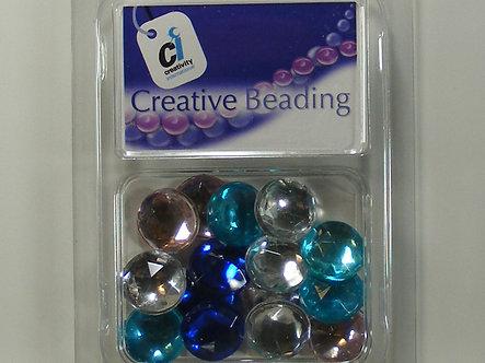 Creativity International - Pastel Acrylic Round Jewels