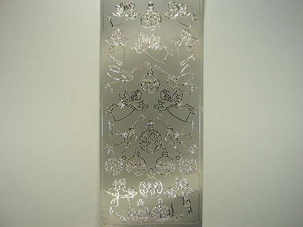 Docrafts - Christmas Peel Offs (Silver)