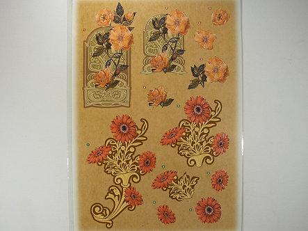 Anita's Glitter Die Cut Decoupage -  Floral 4