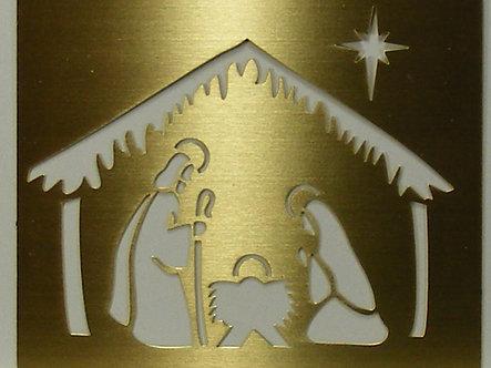 Rayher - Brass Embossing Stencil - Nativity.
