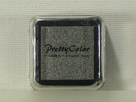 Pretty Color - Pigment Mini Ink Pad - Metallic Silver