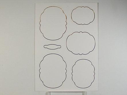 Kanban - Gold Foiled Layers/Frames.