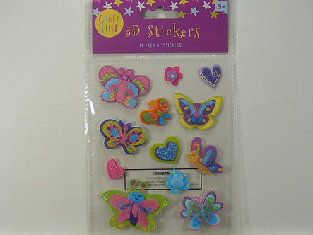 Craft Time - 3D Stickers Butterflies