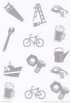 Art & Crafts Direct - Mini-Mens A5 Bkg Card (White)
