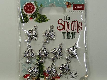 It's Snome Time - Toad Stools Metal Charms