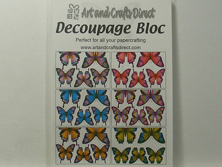 Arts & Crafts Direct - Decoupage Bloc - Butterflies.