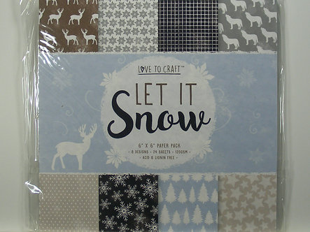"""Love To Craft - Let It Snow 6"""" x 6"""" Paper Pad"""
